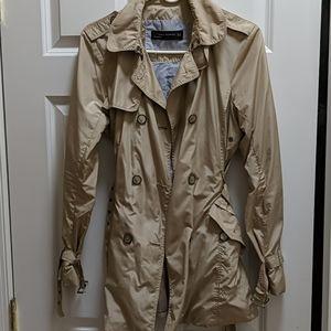 Zara Tan Trench Coat, Size M